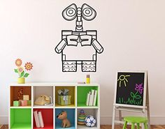 WALLE Wall Art Vinyl Decal Disney Cartoons Robots Vinyl Sticker Home Decor Ideas Interior Removable Kids Room Wall Art 3wle >>> BEST VALUE BUY on Amazon-affiliate link