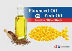 Fish Oil vs Flaxseed Oil: Benefits and Side Effects Flaxseed Oil Benefits, Flex Seed, Linseed Oil, Fish Oil, Side Effects, Food, Meals, Yemek, Eten