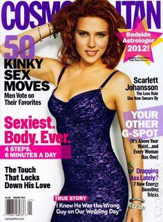 Cosmopolitan Magazine Covers | Scarlett Johansson Covers Cosmopolitan Magazine (January 2012 ...