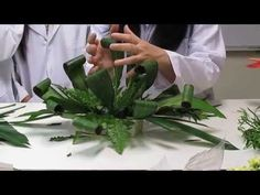 Styling Your Greenery to Add Pizzazz to your Flower Arrangements! Tropical Floral Arrangements, Funeral Flower Arrangements, Ikebana Flower Arrangement, Church Flower Arrangements, Church Flowers, Funeral Flowers, Arte Floral, Deco Floral, Fleur Design