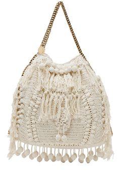 Stella McCartney | Crochet Big Tote in White #bag #crochet #diy