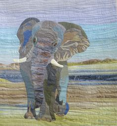 Winning Quilts 2017 - The Festival of Quilts 2018 - Elephant by Donna Goyner Dog Quilts, Cat Quilt, Animal Quilts, Quilt Art, Elephant Quilts Pattern, Quilt Patterns, Quilting Room, Quilting Ideas, Machine Quilting