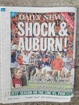 From the New York Post to the Birmingham News, Auburn's 34-28 victory in the Iron Bowl was the hot topic on the front page.