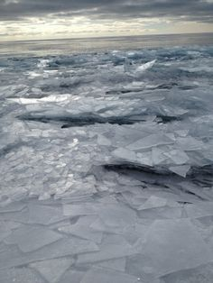 The water at Lake Superior froze, but the water beneath it was still moving causing the pieces of ice to stack on top of each other once th...