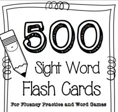 This is a set of high-frequency word cards that