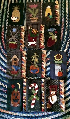 2015 BOM almost finished Applique Embroidery Designs, Wool Applique, Wool Quilts, Penny Rugs, Felt Projects, Vintage Trucks, Felt Crafts, Appliques, Basin