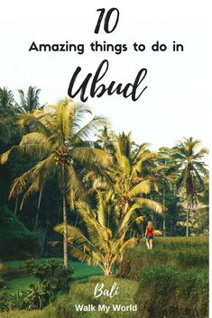 No trip to Bali is complete without visiting Ubud. It is the centre of so many incredible things to do, but we've whittled it down the best 10 things to do in Ubud just for you.