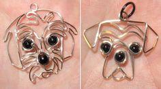 PRINCIPAIS RAÇAS EM DESENHO DE TRAÇO CONTÍNUO – Um único fio de metal dá voltas em zigue-zague para formar a cabeça de um cão. Várias raças caninas estão representadas na coleção. São todas f…