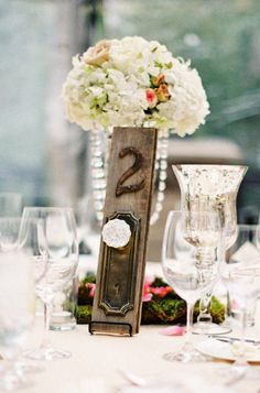 Adorable DOOR LOCK table number - Park City, Utah Wedding from Joey Kennedy