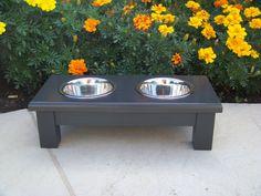 black elevated dog bowls