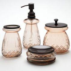 Home Classics Etched Glass Bath Accessories Pin adicionado de kohls.com