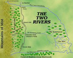 İki Nehir bölgesine ait renkli harita http://zamancarki.net/iki-nehir/