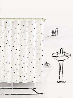 deco dot shower curtain