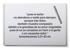 Lamentaciones 3:31-33 Salvador, Cards Against Humanity, Word Of God, Words, Spirituality, Gods Promises, Biblical Quotes, Savior, El Salvador