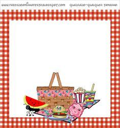 Picnic - Kit Completo com molduras para convites, rótulos para guloseimas, lembrancinhas e imagens!