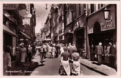 Vintage Postcard Kalverstraat Amsterdam Holland Netherlands OFF when you Buy Amsterdam Holland, Holland Netherlands, New Amsterdam, Soul Collage, City Pass, Shopping Street, City Streets, Rotterdam, Old Pictures