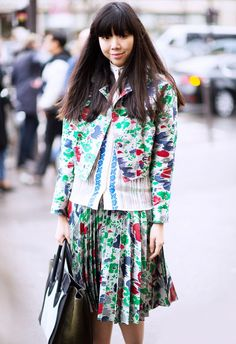 Trend Report: Rave Patterns via @WhoWhatWear. Style Bubble's Susie Lau is a seasoned print-wearer.