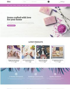 Landing page – iBid Coin Art, Home Workshop, 1st Anniversary, Vintage Toys, Wordpress Theme, Pink Flowers, Fundraising, Ecommerce, Landing