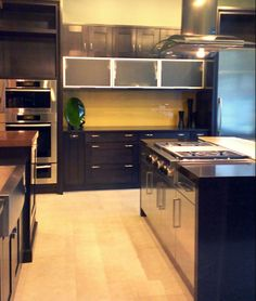 Nice Modern Kitchen Design With Black Cabinets | Kenwood Kitchens In Annapolis,  Maryland | Stainless Steel