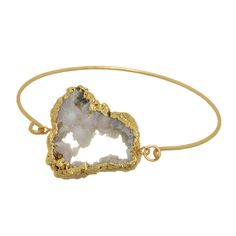 DRUZY QUARTZ LATCH BRACLET