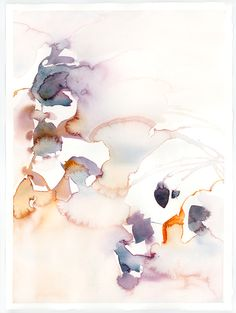 Abstract Watercolor : Conflate by Marta Spendowska, VERYMARTA, Polish-American artist, illustrator and textile designer.