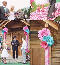 rosa idéias do casamento