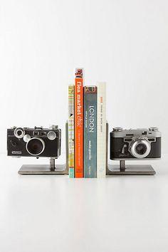 Vintage Camera Bookends #anthropologie