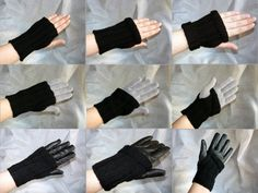 Knitting kit / gift kit – fingerless wrist warmers / mitts -  hand knitting pattern and yarn in an organza bag