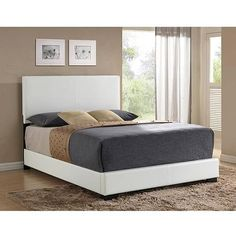 Ireland Full Faux Leather Bed, White