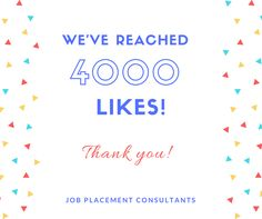 Thank you to everyone who helped us reach 4000 Likes!