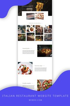 WebDo - The All-In-One Website Design Solution. Use the italian restaurant website template to create your website today.