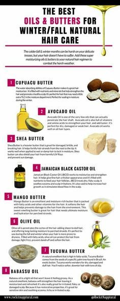The best oils and butters for natural hair during fall and winter