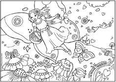 Valentine fairy colouring page, Valentine's Day colouring page