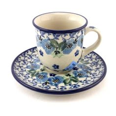 Can you appreciate a good espresso? Get a lovely little cup with saucer too :) With love by Polish Pottery, http://slavicapottery.com
