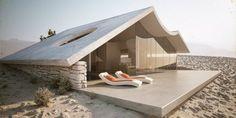 The desert Villa by Studio Aiko // Uhm, desert? Love the house