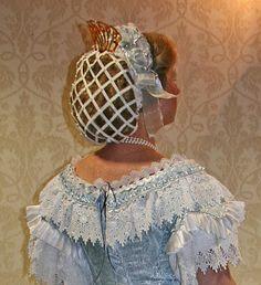 Civil war era ribbon hair net
