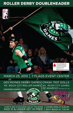 Des Moines Derby Dames bout poster designed by yours truly.