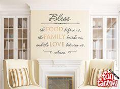 Das Essen vor uns  Küche Wand Aufkleber zitieren  Christian