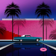 Clément Dezelus Photomontage, Focus Magazine, Dark Summer, Miami, Lucky Number, Vaporwave, Illustration Art, Photos, Artsy