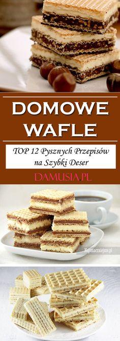 Domowe Wafle – TOP 12 Pysznych Przepisów na Szybki Deser Waffles, Cereal, Sweets, Meals, Breakfast, Recipes, Cakes, Drinks, Morning Coffee