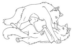 Free Wolf Love Lineart by Nova-Nocturne on DeviantArt - Free Wolf Love Lineart by Tesseri-Shira - Wolf Sketch, Anime Sketch, Anime Wolf, Kawaii Drawings, Love Drawings, Animal Sketches, Animal Drawings, Dog Line Art, Wolf Base