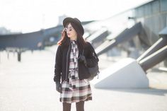 #grunge #lennons #hat #checkered #redlips #fashion #outfit #casual