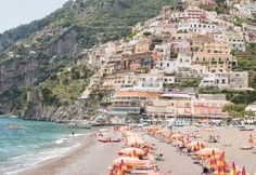Italy Photography, Summer in Positano, Amalfi Coast, Italy, beach photography,Italian home decor, Positano Art, bedroom art, beach umbrellas by rebeccaplotnick on Etsy