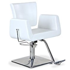 $380  Hepburn  White Reclining Styling Chair with Square Base  sc 1 st  Pinterest & White All Purpose Hydraulic Recline Barber Chair Shampoo Spa Salon ...