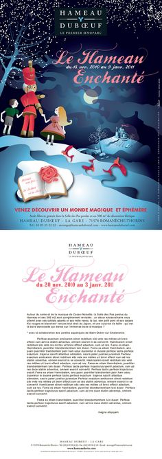 """Hameau Dubœuf, Affiche """"Hameau Enchanté"""", illustration R.Michon, Noël 2010©markcom"""