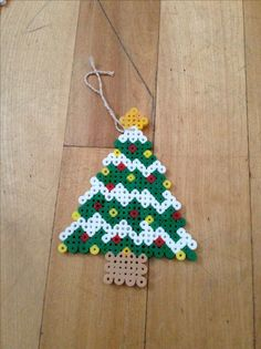 Christmas tree hama perler beads by Claudia Vendette