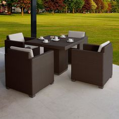 Outdoor Hospitality Rattan Sydney 5 Piece Patio Dining Set - 62373-5DT-5453