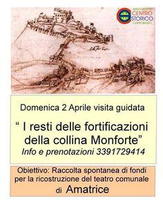 I resti delle fortificazioni della collina Monforte raccolta fondi per Amatrice