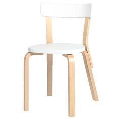 Aalto chair 69, white, by Alvar Aalto.