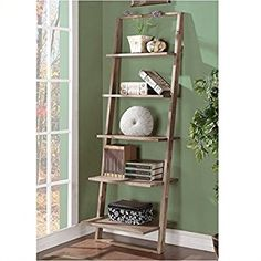 Riverside Furniture Lean Living Leaning Bookcase in Smoky Driftwood - 27737 Ladder Bookcase, Bookshelves, Home Office, Riverside Furniture, Country Furniture, High Quality Furniture, Furniture Manufacturers, Small Living, Living Room Furniture